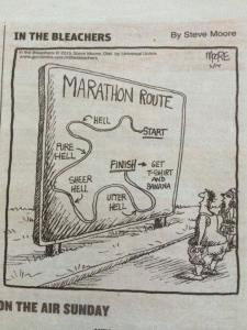This describes the race perfectly, including the point-to-point course!